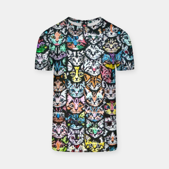 Miniatur Colorful Cats T-shirt, Live Heroes