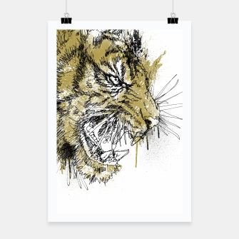 Thumbnail image of Tiger Roar scratch Poster, Live Heroes