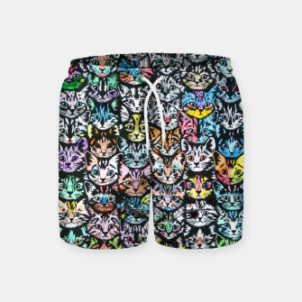 Miniatur Colorful Cats Swim Shorts, Live Heroes