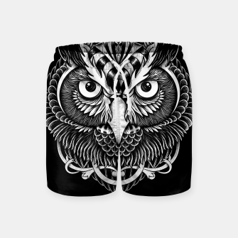 Miniatur Owl Ornate Swim Shorts, Live Heroes
