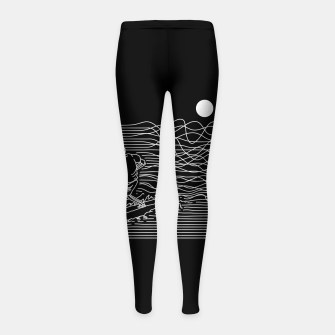 Thumbnail image of Surf Line Girl's leggings, Live Heroes
