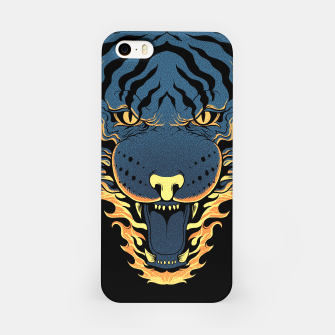 Miniatur Tiger Fire iPhone Case, Live Heroes