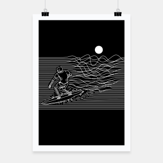 Miniatur Surf Line Poster, Live Heroes