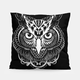 Thumbnail image of Owl Ornate Pillow, Live Heroes