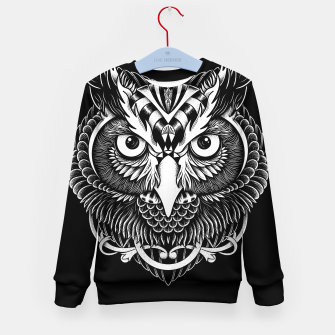Thumbnail image of Owl Ornate Kid's sweater, Live Heroes