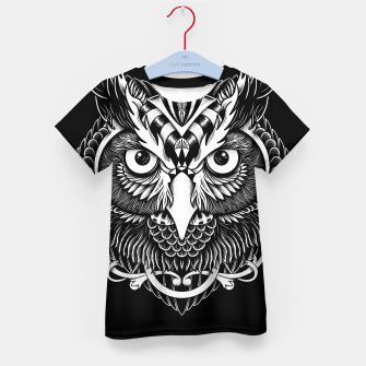 Thumbnail image of Owl Ornate Kid's t-shirt, Live Heroes