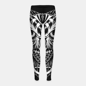 Thumbnail image of Owl Ornate Girl's leggings, Live Heroes