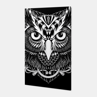 Miniatur Owl Ornate Canvas, Live Heroes