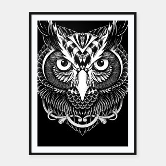 Thumbnail image of Owl Ornate Framed poster, Live Heroes
