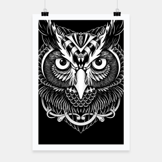 Thumbnail image of Owl Ornate Poster, Live Heroes