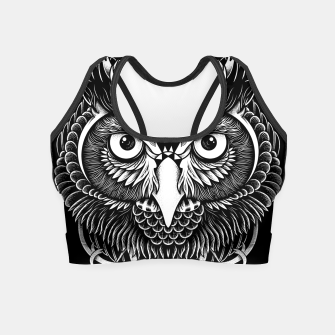 Miniatur Owl Ornate Crop Top, Live Heroes