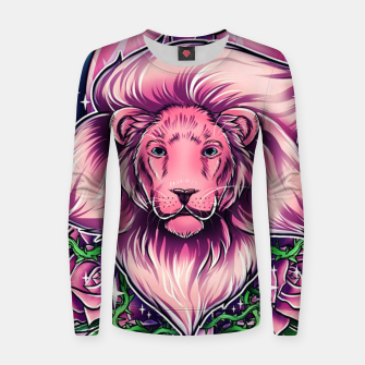 Thumbnail image of Pink Lion Women sweater, Live Heroes
