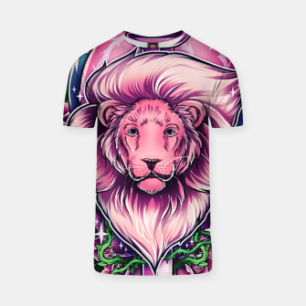 Thumbnail image of Pink Lion T-shirt, Live Heroes