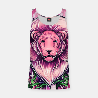 Miniatur Pink Lion Tank Top, Live Heroes