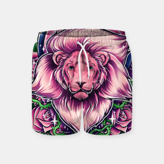 Thumbnail image of Pink Lion Swim Shorts, Live Heroes