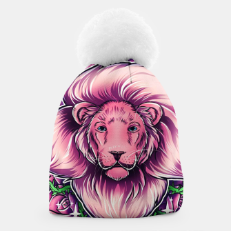 Thumbnail image of Pink Lion Beanie, Live Heroes