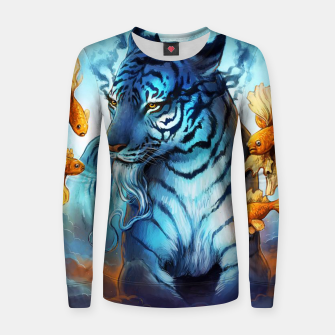 Miniatur Fish Tiger Women sweater, Live Heroes