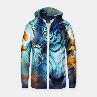 Thumbnail image of Fish Tiger Zip up hoodie, Live Heroes