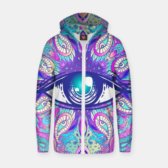 Miniatur Colorful Eye Zip up hoodie, Live Heroes