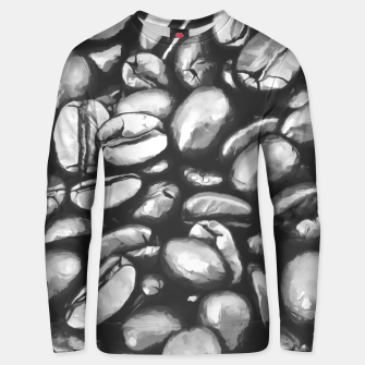 Miniatur roasted coffee beans texture acrbw Unisex sweater, Live Heroes