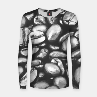 Miniatur roasted coffee beans texture acrbw Women sweater, Live Heroes