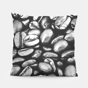 Thumbnail image of roasted coffee beans texture acrbw Pillow, Live Heroes