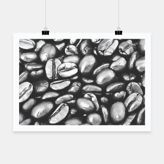 Thumbnail image of roasted coffee beans texture acrbw Poster, Live Heroes