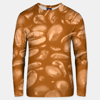 roasted coffee beans texture acrcb Unisex sweater miniature