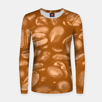 roasted coffee beans texture acrcb Women sweater thumbnail image