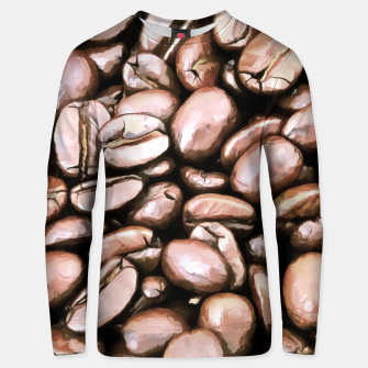 roasted coffee beans texture acrstd Unisex sweater miniature