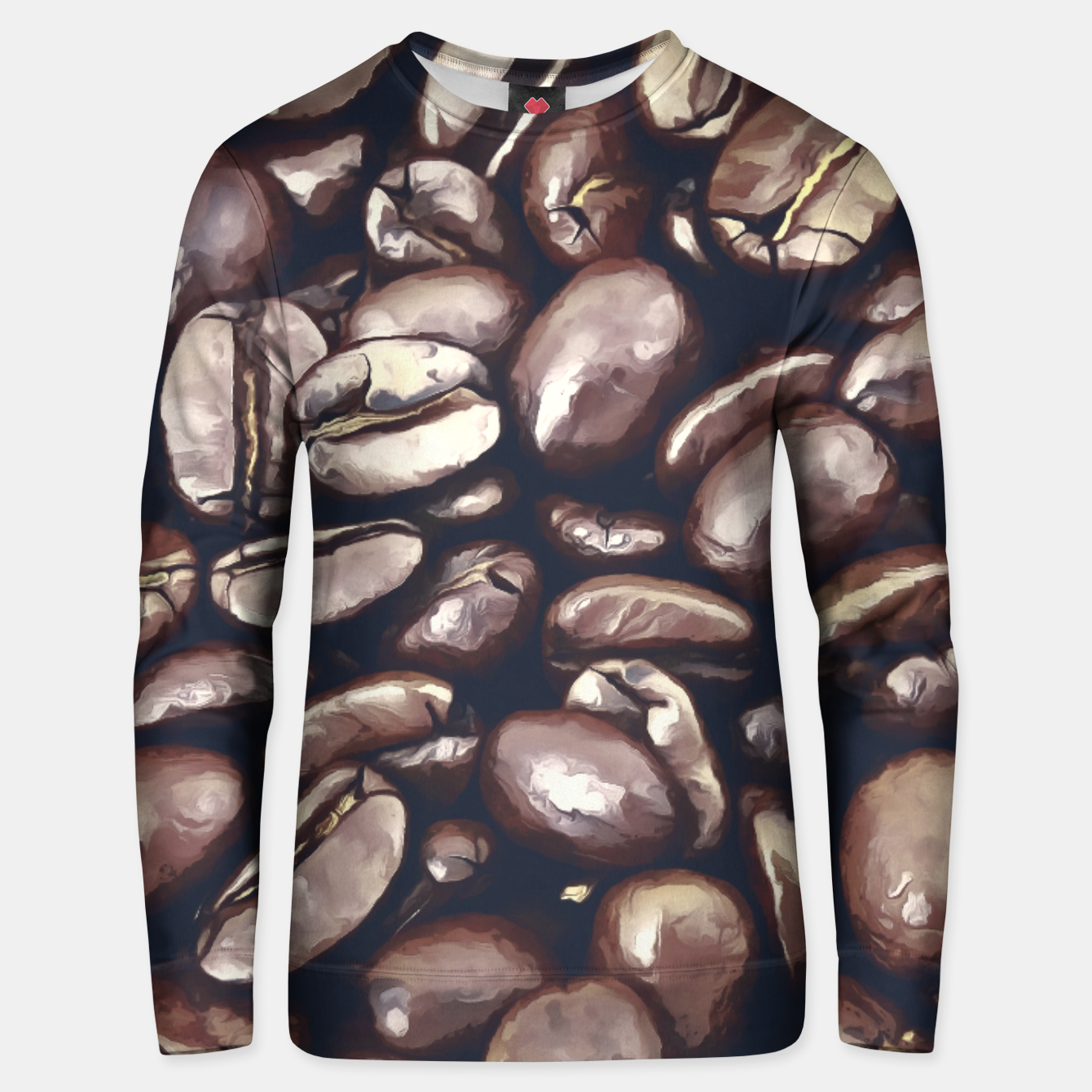 Image of roasted coffee beans texture acrfn Unisex sweater - Live Heroes