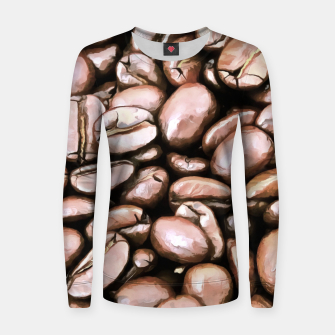roasted coffee beans texture acrstd Women sweater thumbnail image