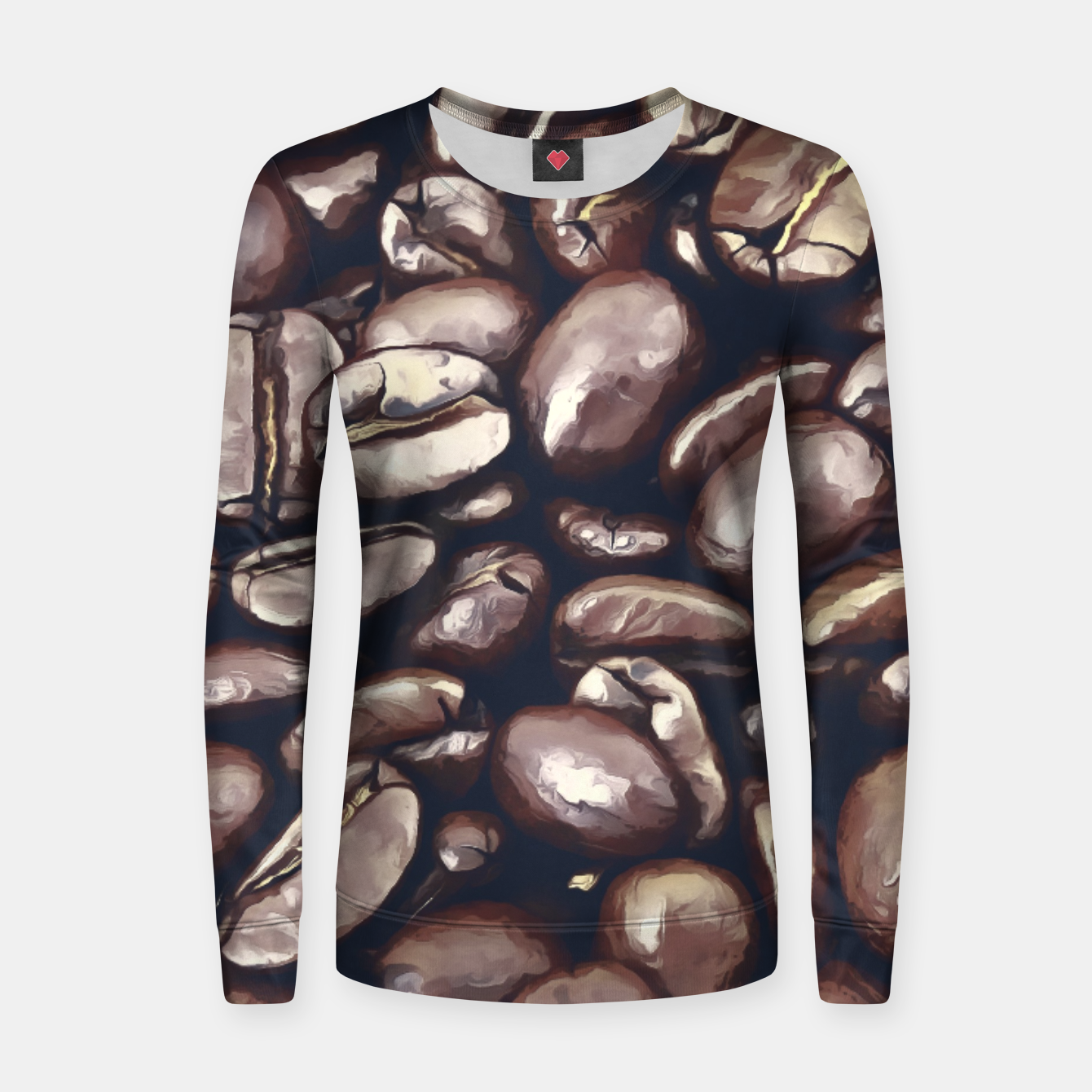Image of roasted coffee beans texture acrfn Women sweater - Live Heroes