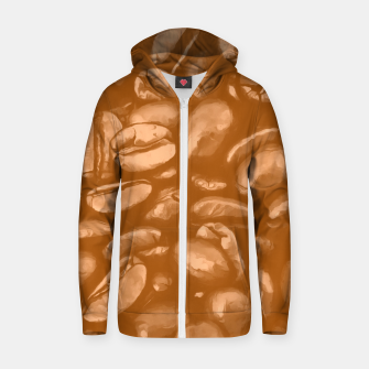 roasted coffee beans texture acrcb Zip up hoodie thumbnail image