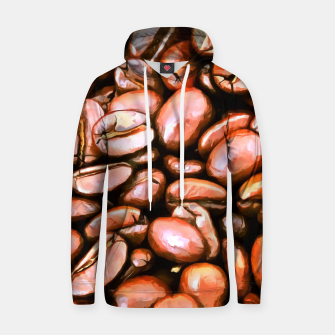 roasted coffee beans texture acrsat Hoodie miniature