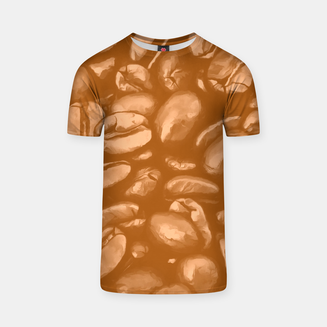 Image de roasted coffee beans texture acrcb T-shirt - Live Heroes