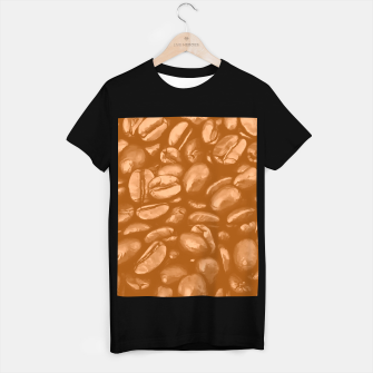 roasted coffee beans texture acrcb T-shirt regular thumbnail image