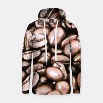 roasted coffee beans texture acrstd Hoodie miniature