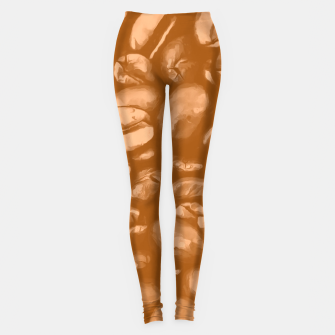 roasted coffee beans texture acrcb Leggings thumbnail image