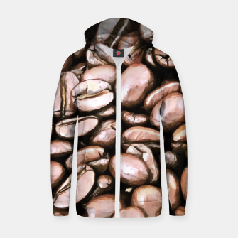 roasted coffee beans texture acrstd Zip up hoodie thumbnail image