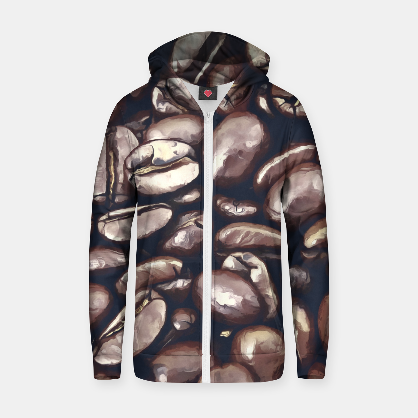 Image de roasted coffee beans texture acrfn Zip up hoodie - Live Heroes