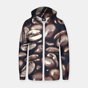 roasted coffee beans texture acrfn Zip up hoodie thumbnail image