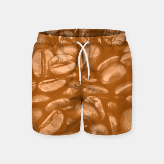 roasted coffee beans texture acrcb Swim Shorts thumbnail image