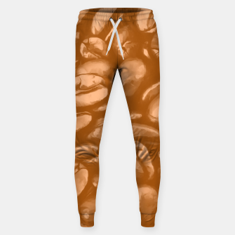 roasted coffee beans texture acrcb Sweatpants miniature