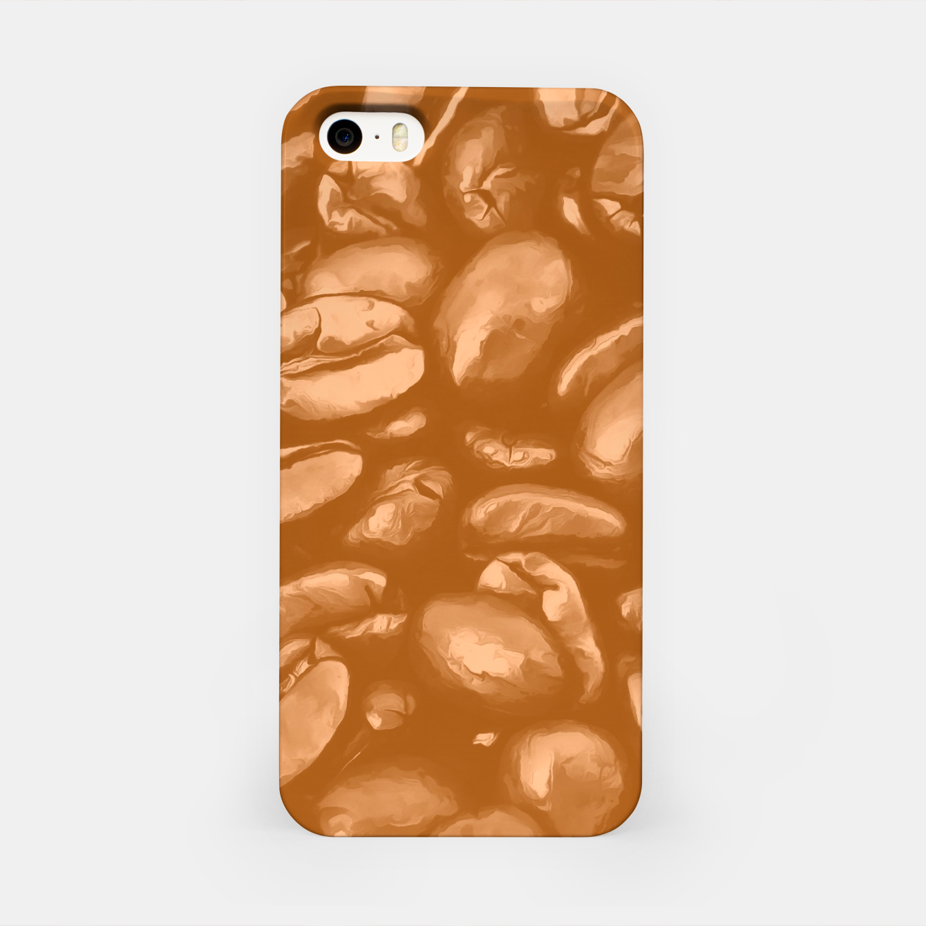 Image de roasted coffee beans texture acrcb iPhone Case - Live Heroes