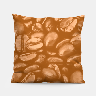 roasted coffee beans texture acrcb Pillow miniature