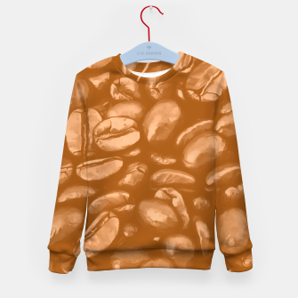 roasted coffee beans texture acrcb Kid's sweater miniature