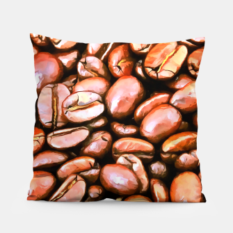 roasted coffee beans texture acrsat Pillow miniature