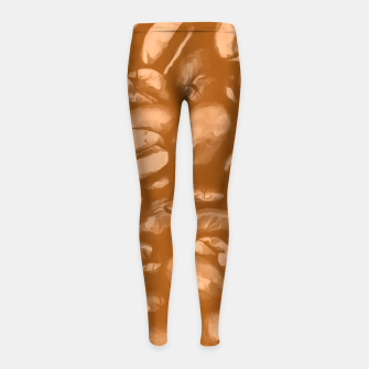 roasted coffee beans texture acrcb Girl's leggings miniature