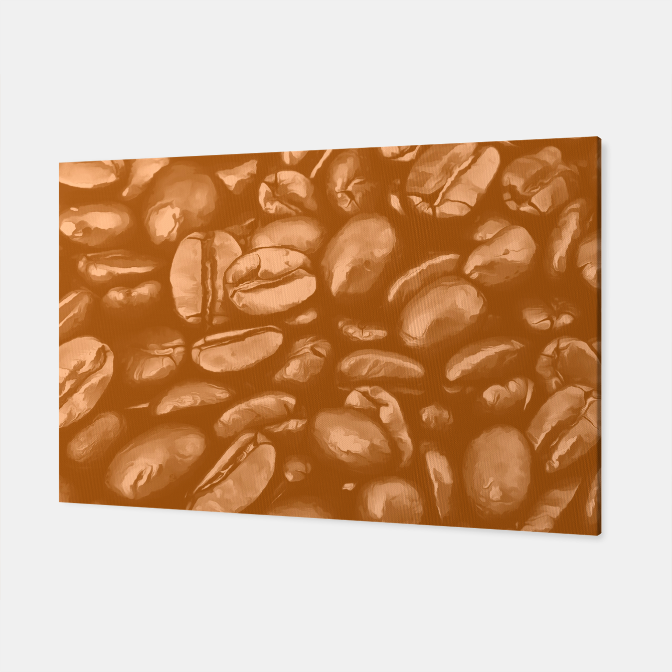 Image of roasted coffee beans texture acrcb Canvas - Live Heroes